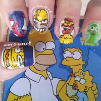 The Simpsons nail art by amanda04
