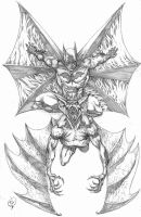 Batman Vs Manbat Pencil Rough by RudyVasquez