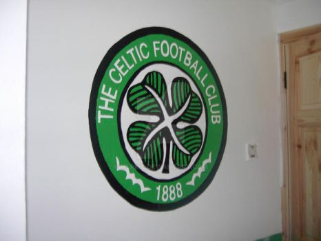 Celtic FC and Mascot Mural by MLRMC