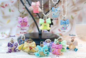 DisneyBound Princess Themed Necklaces by IvrinielsArtNCosplay