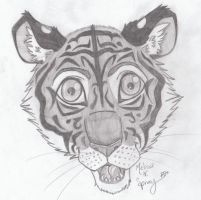 Pencil Tiger by Cobalt-Flame