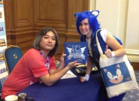 Me and Jun Senoue Summer of Sonic 2013 by MizukiiMoon