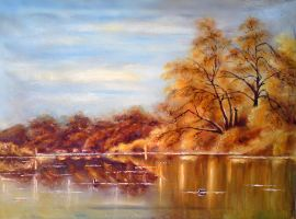Lake in autumn by Ilona41