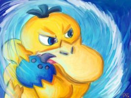 PSYDUCK USED NATURAL GIFT by DislocatedPenguin