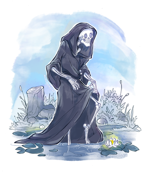Master Death in the pond by InsaneNudl