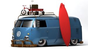 VW Type 2 T1 Panel Van SoCal by DarkStryder360