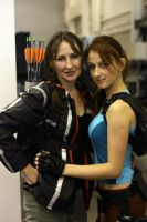 Katniss Everdeen and Lara Croft by LiSaCroft
