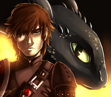 HTTYD - Hiccup and Toothless by Archetype-Raven