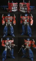 Custom Deluxe Optimus Prime by Solrac333