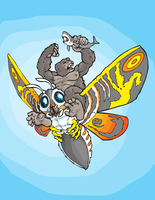 Trifecta: King Kong, Mothra, and Jaws by WithintheMechanism