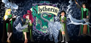 Disney Hogwarts students: Slytherin by Willemijn1991