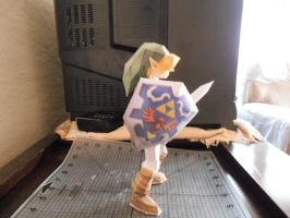 Paper Craft Link right side view by ShyArt85