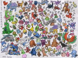 All Johto Pokemon and Ditto :D by SANACHI