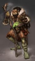Orc Shaman by wood-illustration