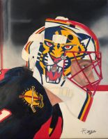 Oil Painting of Roberto Luongo by RichardZajac