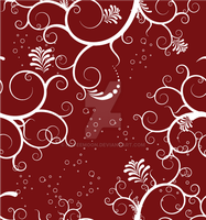 Seamless Pattern Red Floral by NofeeMoon