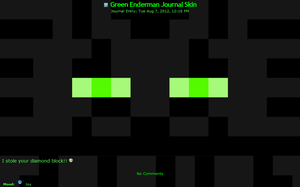 Green Enderman Journal skin by TVZRandomness