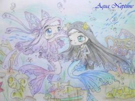 -Chibi- Nur Marin and Maria Ocean by Charming-Manatee