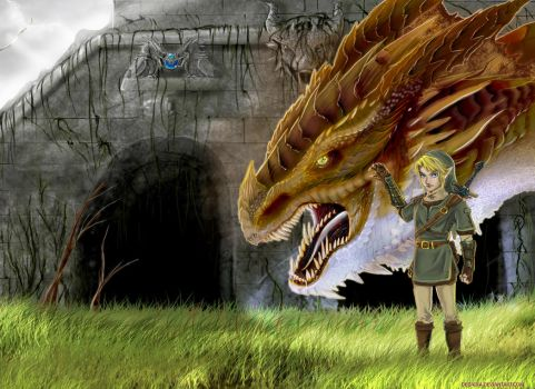 Link and a Dragon by Decadia