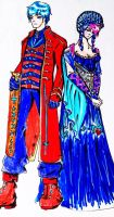Humanized: Optimus Prime and Arcee by Micelux