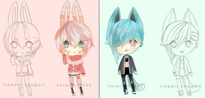 Defect [FEINT] Adopts (collab with chu)OPEN by Miivei