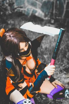 Akali Halloween Cosplay 3 League of Legends by MelodyxNya