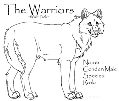 Warriors Wolf- Male Template by TheWarriors-WolfPack
