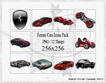 Ferrari Cars Icons Pack by conzumir