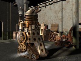 Steampunk Dalek by Ratbullets