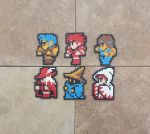 Class Sprites - FF I Perler Bead Sprites by MaddogsCreations