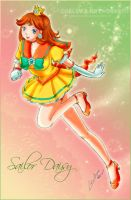 Sailor Consoles Princess Daisy by YunaSakura