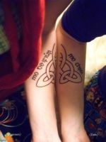 Celtic Knot Tattoo for two by KibaBird