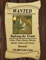 Wanted Poster: Badrang by Redtriangle