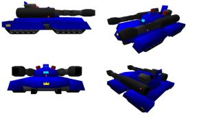 Downloadable for MMD The Laser paladin Tank! by SamuraiKnight