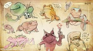 Frog Sketchdump by colonel-strawberry