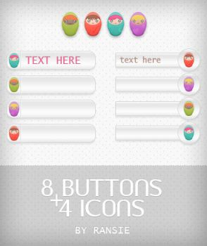 Web Buttons and Web Icons by Ransie3