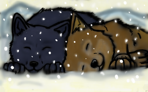 Hige and Blue pups by XXAngryLoneWolfXX