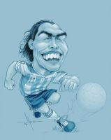Carlos Tevez by Mecho