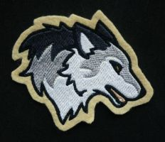 Wolf head embroidery by goiku
