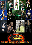 Sonya Blade cosplay collage by IronCobraAM