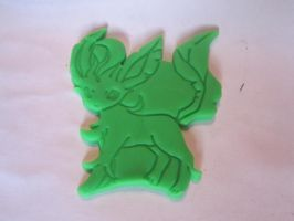 Leafeon Cookie Cutter Play-Doh Test by B2Squared