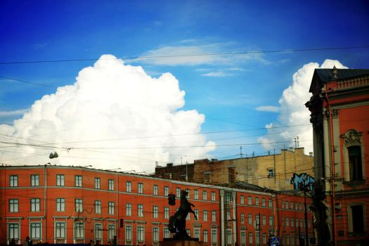 clouds in the  Petersburg's sky by KsenPo