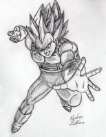 Vegeta - Sketch #5 by Jaylastar