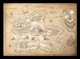 Old Numenore Map by amegusa
