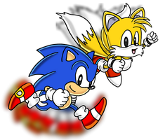 Classic Sonic and Classic Tails by Tails19950