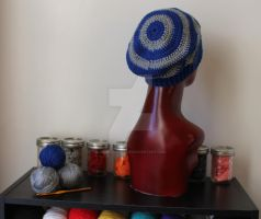 Ravenclaw Inspired Crochet Slouchy Hat 5 by AndroidBoleyn