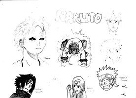 Naruto Sketches by TorchwoodWerewolf