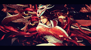 Akali Bloodmoon Skin Signature - League of Legends by xSoraKurosaki
