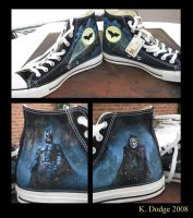 Dark Knight Chucks by theartful-dodge
