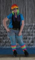 RainBow Dash Human Type Cosplayer by NocturnalRadiance